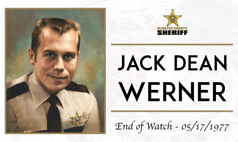 Head shot of Jack Werner with End of Watch date - 5/17/1977